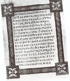 Sacramentale di papa gregorio magno. codice del ix sec., scritto in